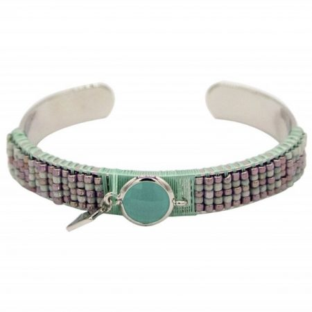 0c4e4179acf Musthave zilver stainless steel boho ibiza katsuki aztec mint groen steen  bangle